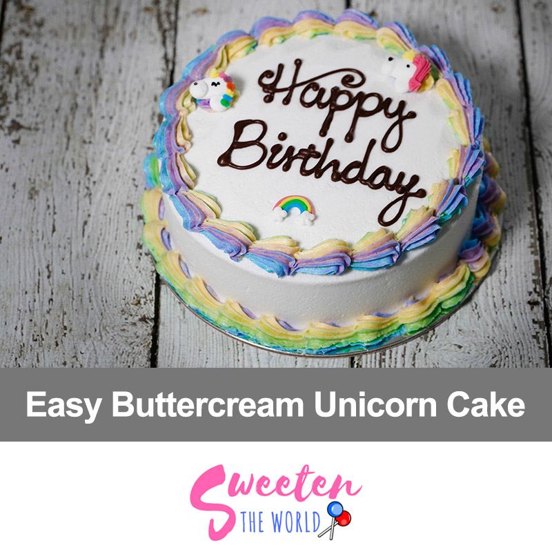 How To Make Simple Unicorn Cake At Home