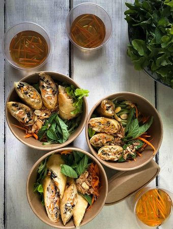 Bún Chả Giò Recipe – Vietnamese Fried Spring Rolls Rice Noodles