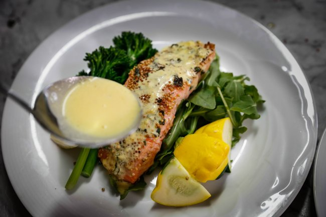 mustard-salmon-with-orange-caper-sauce