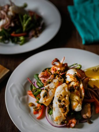 squid-salad-with-gherkin-harissa-salsa