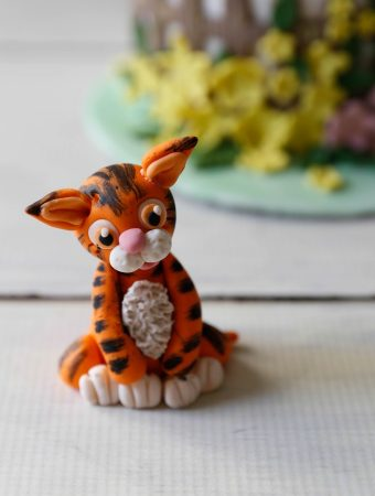 Adorable Baby Tiger Cake Topper