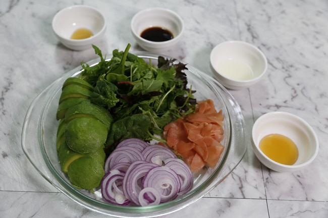 Salad for wrapped salmon ingredients