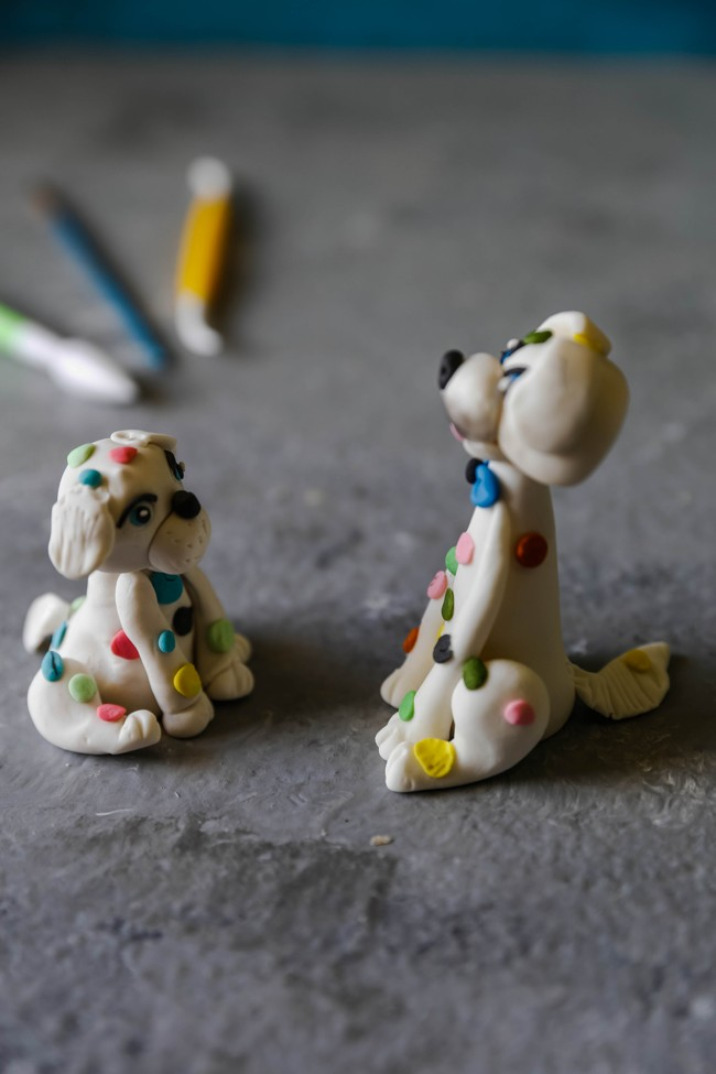 Cute little dog fondant