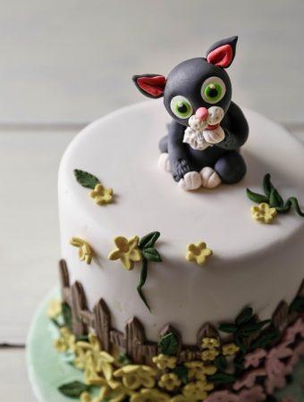 Fondant Cat Cake Topper Tutorial