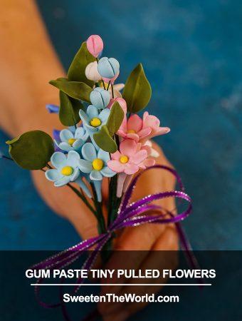 Gumpaste Tiny Pulled Flowers Tutorial