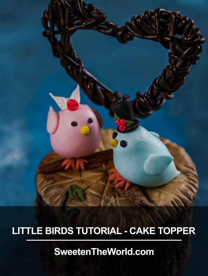Little Cute Fondant Birds Tutorial