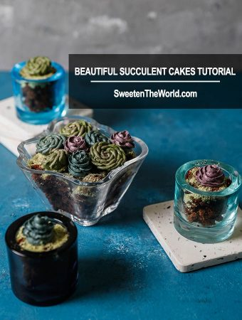Buttercream Succulents Cake Tutorial With Video