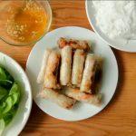Fried Vietnamese springrolls